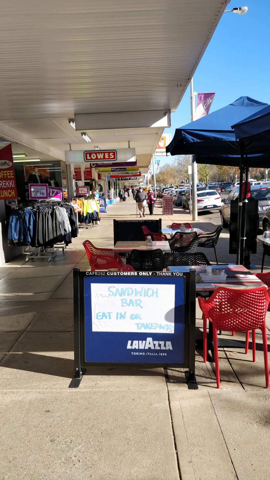 La rue principale et commerçante de Griffith