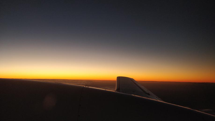 Coucher de soleil vu du ciel