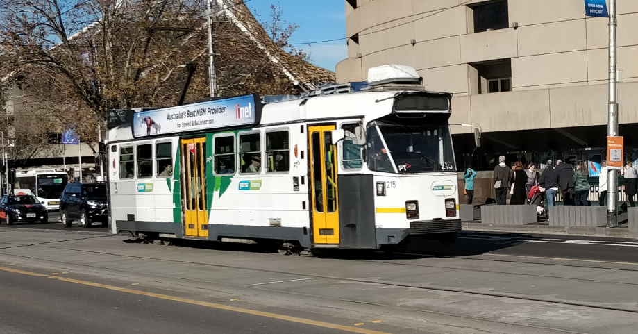 Le tram ultra moderne de Melbourne ;-)