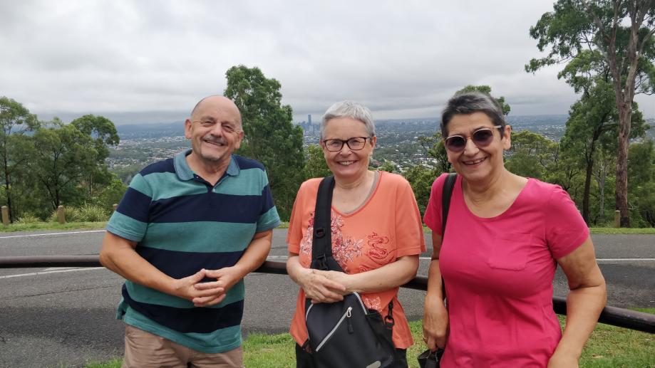 Robert, Gisèle et Élisabeth