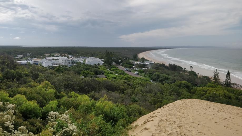 Vue sur Rainbow Beach