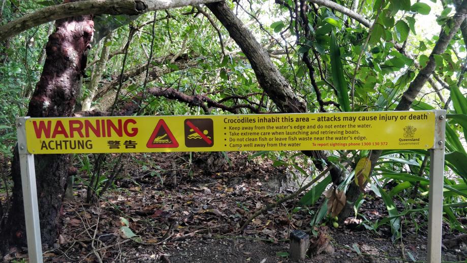 Avertissement contre les crocodiles