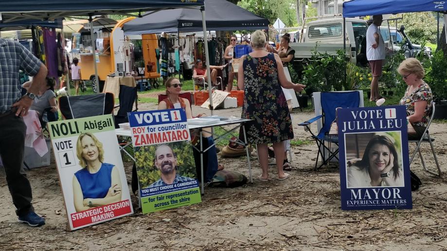 Campagne électorale sur le marché