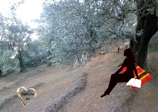 Jeune fille kabyle sous un olivier quel sera son avenir