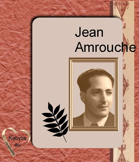Portrait de Jean Amrouche