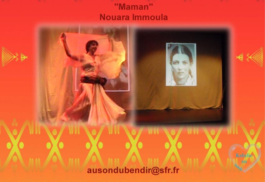 Spectacle Maman par Nouara Immoula