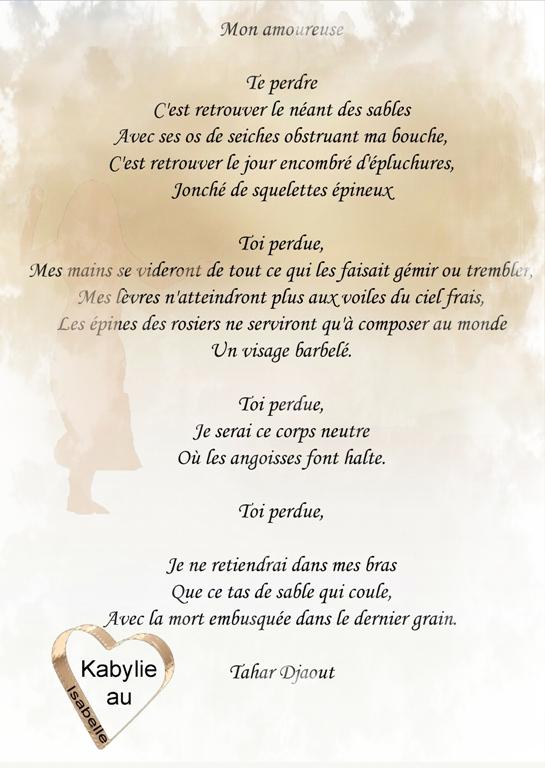 Poéme Tahar Djaout