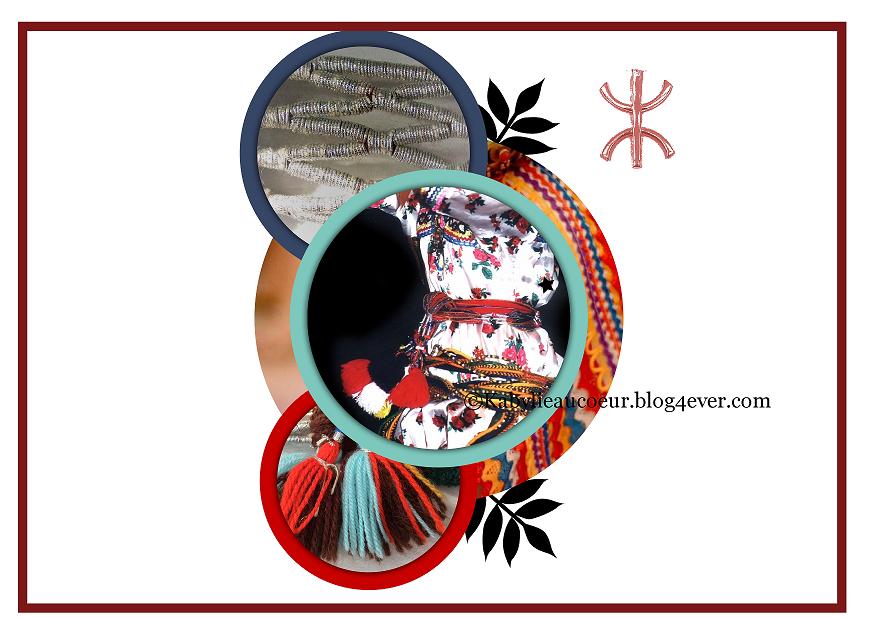 agus ceinture de laine pour robe kabyle