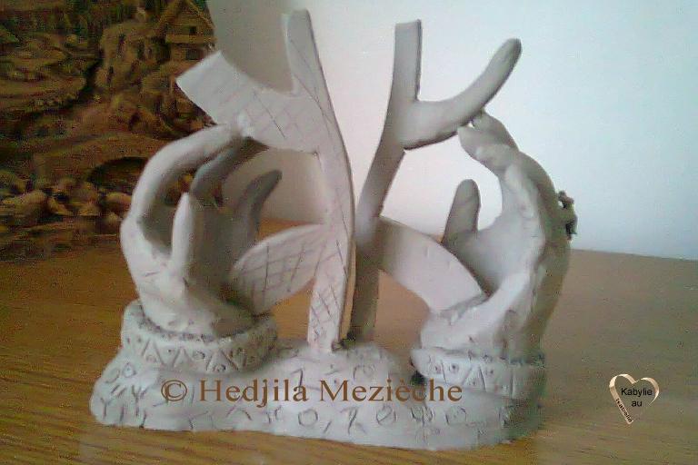 Aza symbole berbère une création d'Hedjila Mezièche