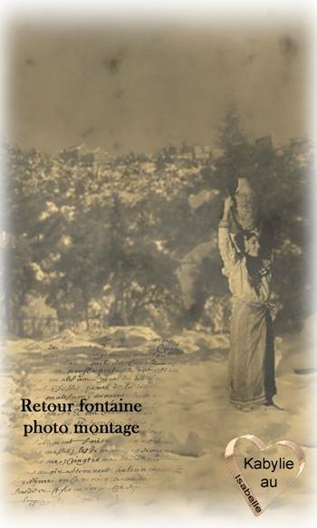 retour de la fontaine en Kabylie
