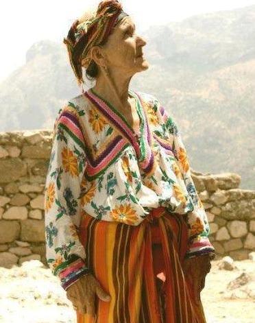 robe kabyle en cotonnade fleurie