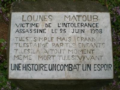 Lounes Matoub plaque commémorative