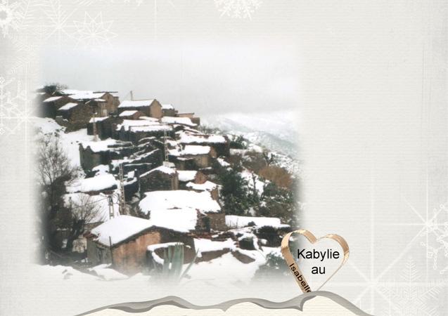 Kabylie neige yennayer