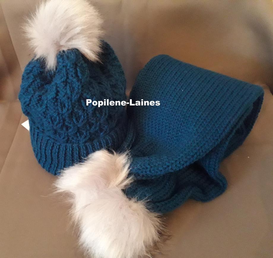 Bonnet tricoté au point