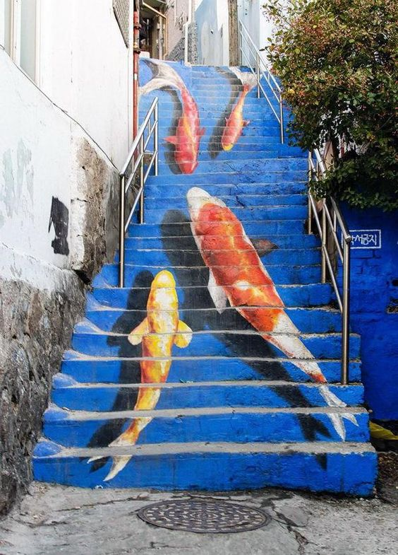 escalier poissons rouges.jpg