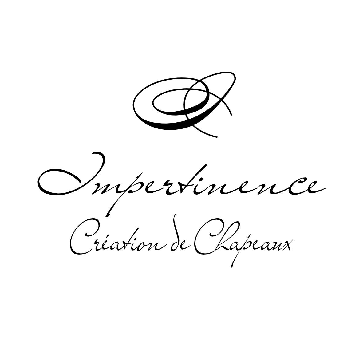 Logo Impertinence Création de chapeaux Noir Fond blanc - 2019 - carré 3.JPG