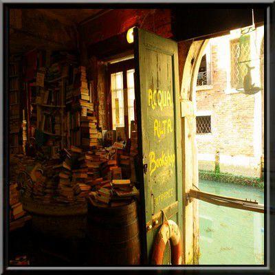 Libreria Acqua Alta, Venise, Italie.