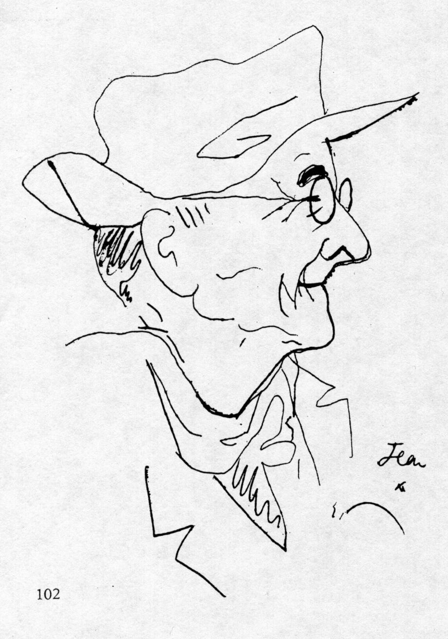 1948 Léautaud Paul Dessin de Jean Cocteau 01.jpg