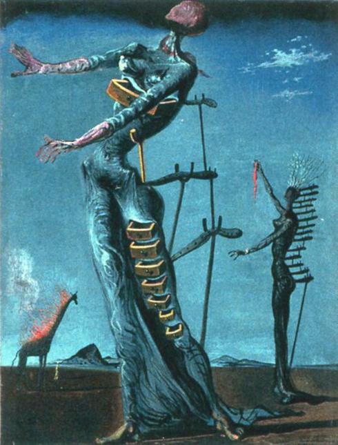1937 Dalí Salvador Girafe en feu.jpg