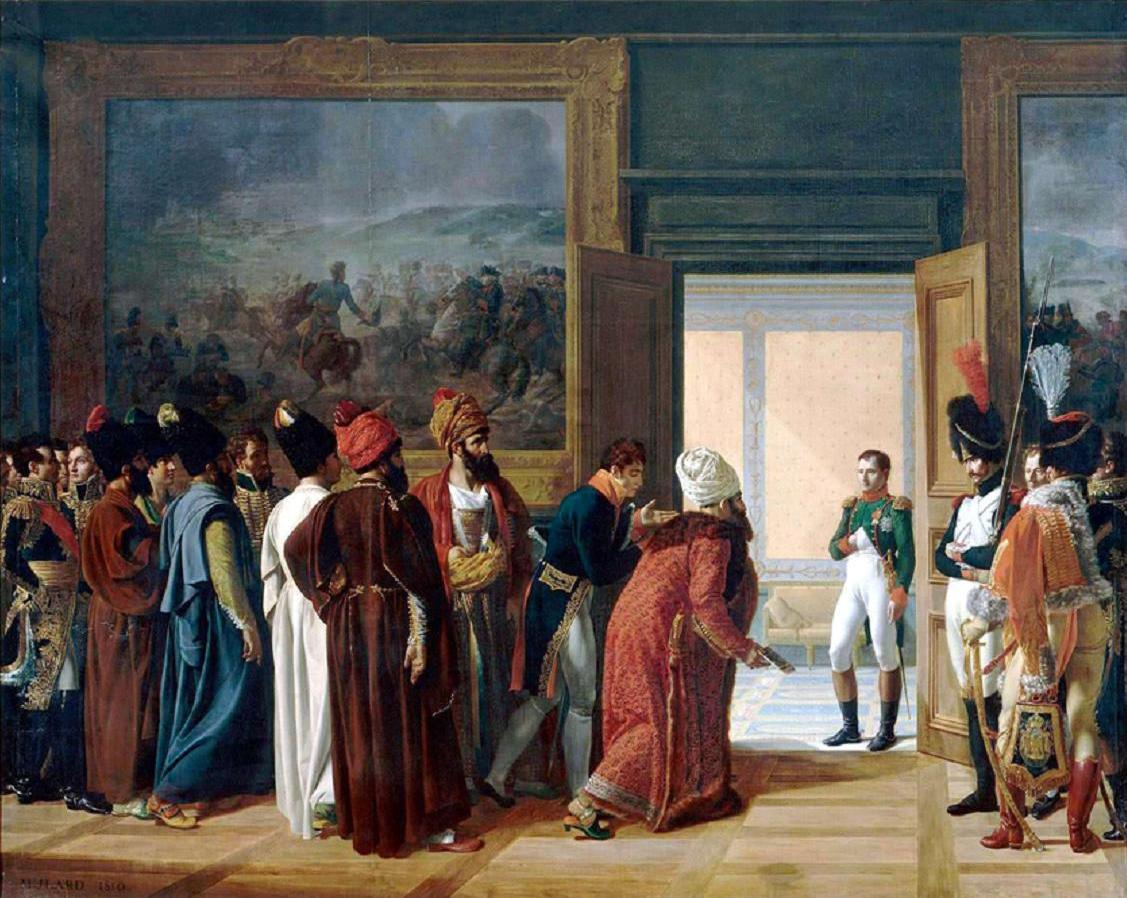 The_Persian_Envoy_Mirza_Mohammed_Reza_Qazvini_Finkenstein_Castle_27_Avril_1807_by_Francois_Mulard.jpg