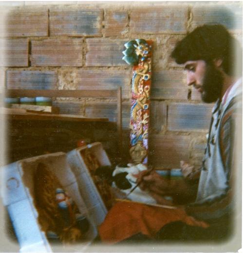 A. Sculpture du trône 16ème Karmapa 1977. Max.jpg