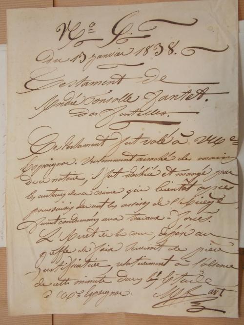 DSCN3930 Fait divers Ponsolle Testament mangé 13-1-1838.JPG