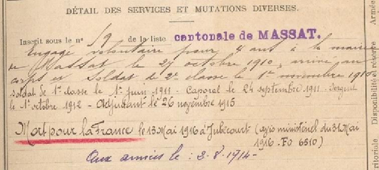 Jean Pierre carrière militaire.PNG