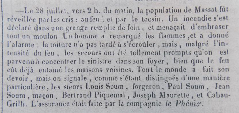 incendie avec assurance 6-8-1859 Massat.PNG