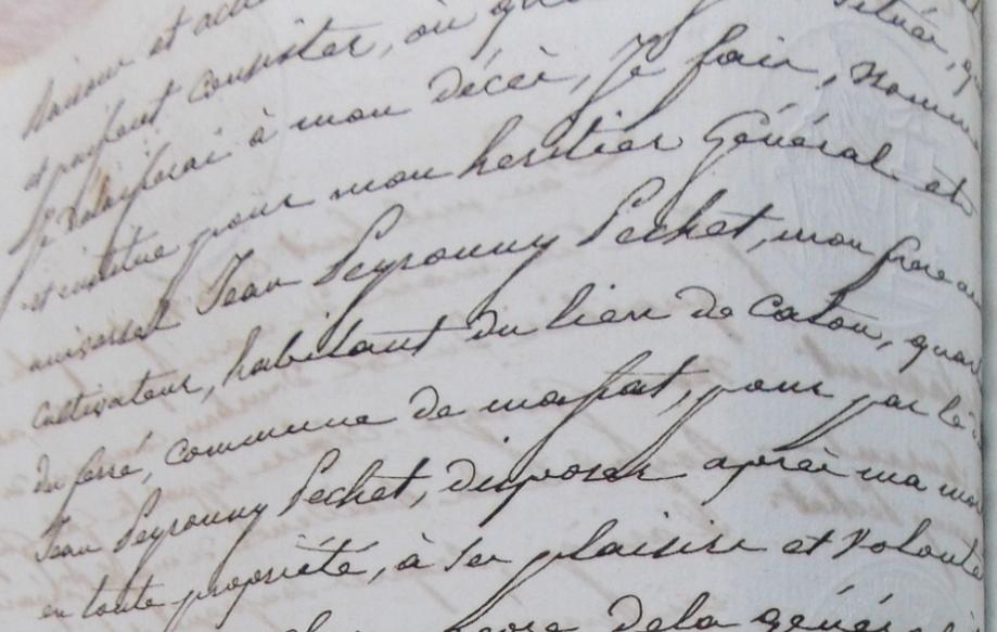 Mariage blanc Peyrounis Petchet disposition dans testament.PNG