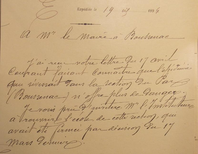 réouverture école du Par 19-4-1894.PNG