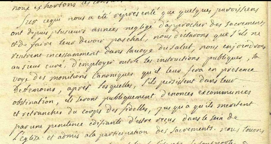 fidèles n'ayant pas fait leurs Pâques Seix 1753.PNG