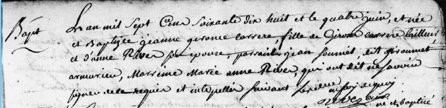 St Girons 1778 Girons père de Jeanne Gironne.PNG