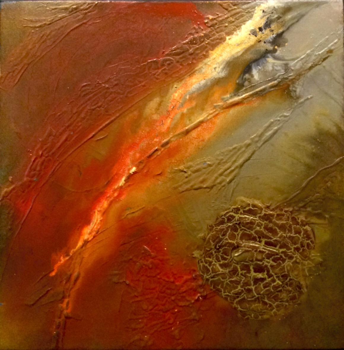 Warm Colors Abstract Art