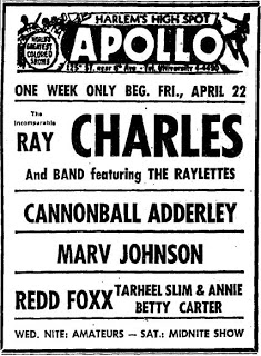 Concert - Ad Apollo Cannonball Adderley Ray Charles New York Amsterdam News - 19600422.jpg