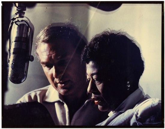 Norman Granz and Ella Fitzgerald at microphone-NMAH-AC0584-0000052.jpg