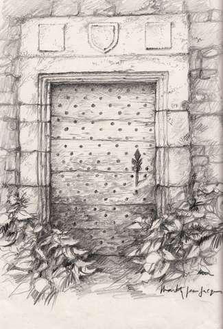 10 - Saint-Pierre de Cole - Porte du XVIe siècle.jpg