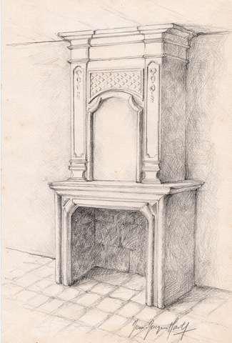 16 - Sainte-Croix de Beaumont - Cheminée du XVIIe siècle.jpg