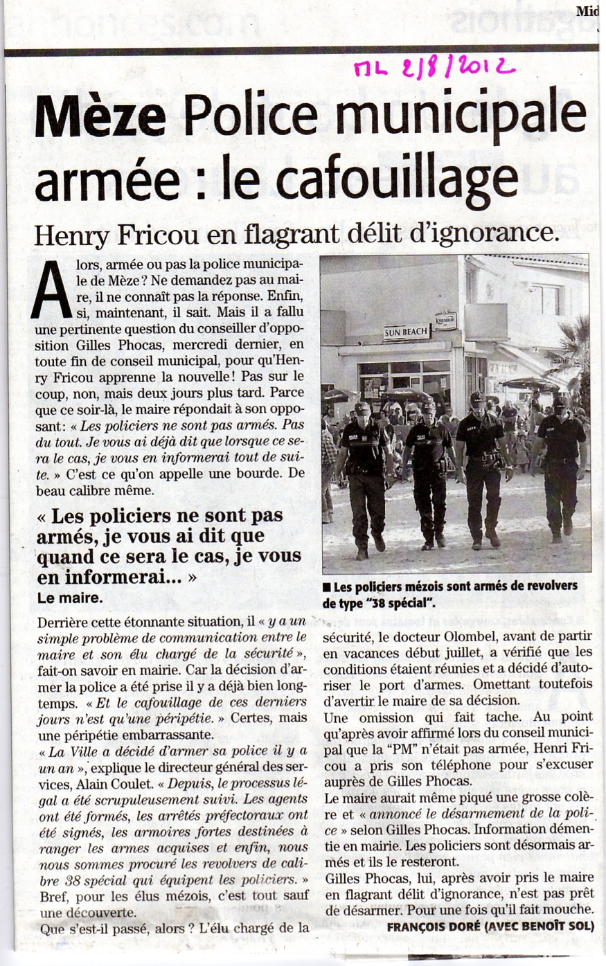 ARTICLE ARMEMENT PM MEZE001