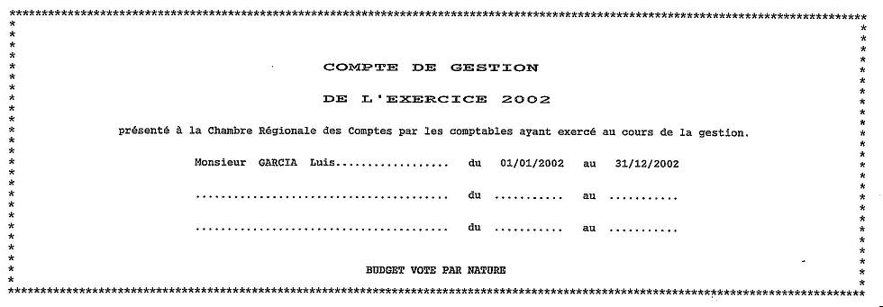 compte de gestion 2002