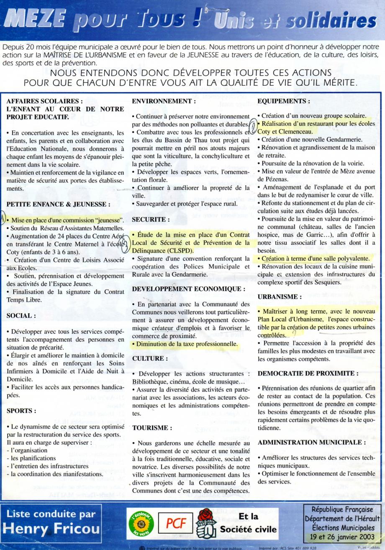 programme 2003 cap zozo001