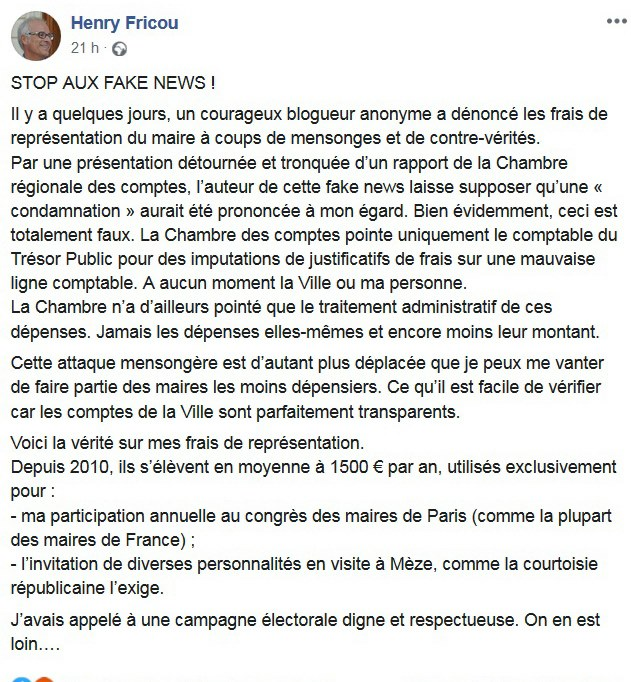 réaction fricou fake news
