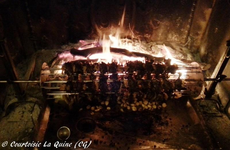 Quatre vingt dix grives au feu de bois...