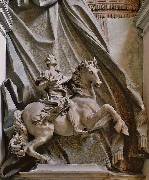 Statue équestre de Constantin par Le Bernin 1670 - péristyle basilique vaticane.jpg