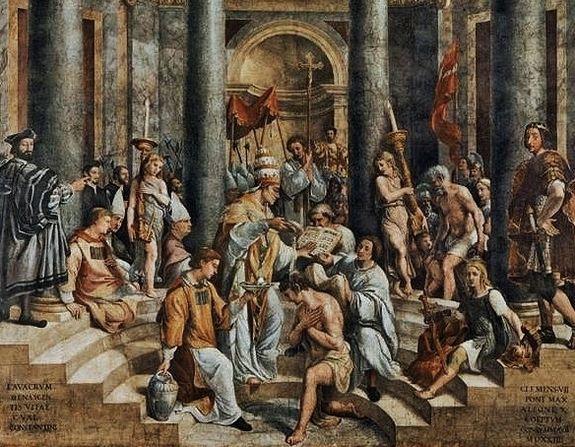 Raphaël le baptême de Constantin par Saint Sylvestre - Vatican.jpg