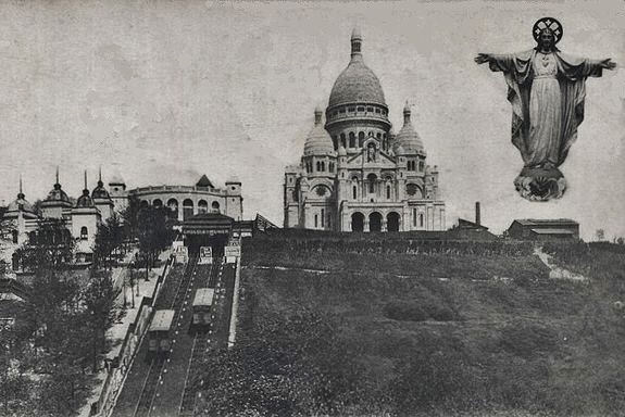 la basilique du Sacré-Coeur de Montmartre vers la fin du XIXe siècle.jpg