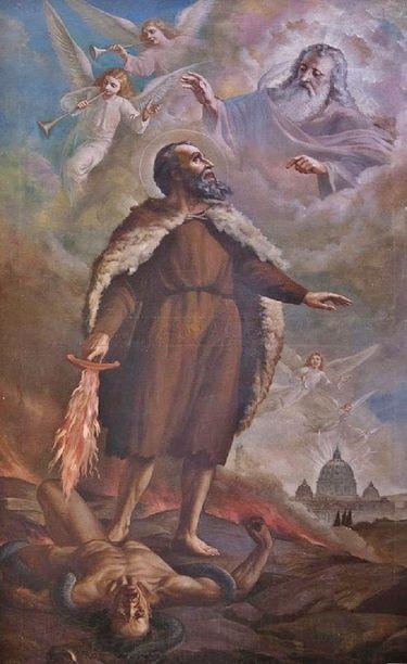 Le prophète St Elie - huile sur toile Italie XIXe s.jpg