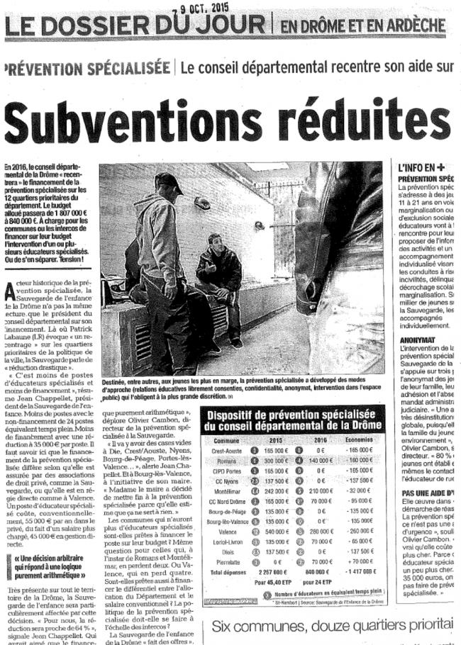 Article dauphiné libéré 09-10-15 département.png