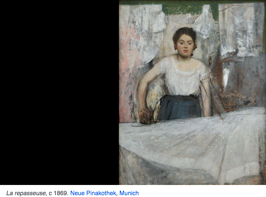 Les impressionnistes cinqui me partie degas le rebelle for Devant le miroir manet