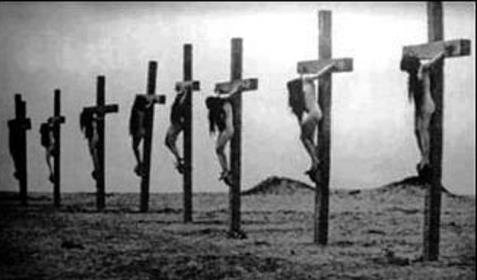 Cruxified Armenian Christian Girls 1919 genocide.jpg