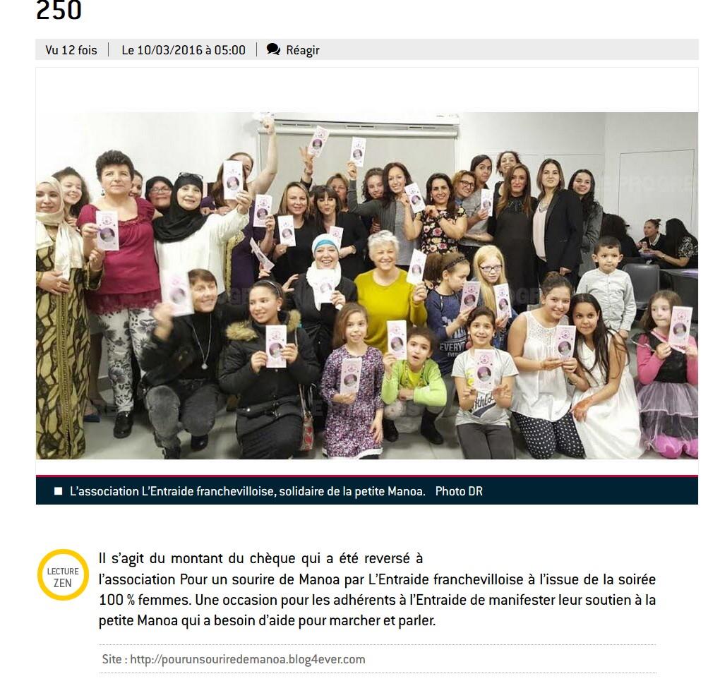 10-03-2015 Article Progrès - Soirée 100 % femmes.jpg